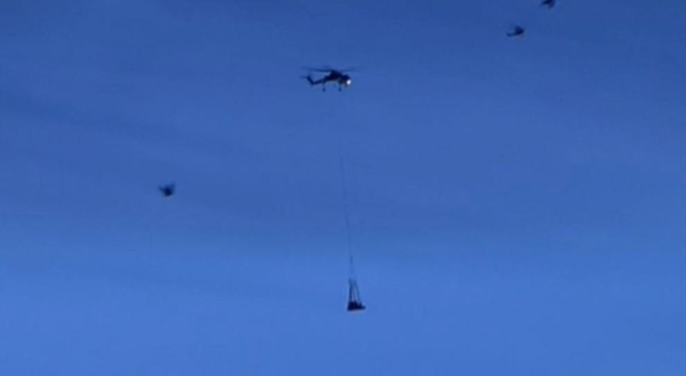 Dispersi Monte Velino, si sgancia in volo e precipita battipista trasportato da elicottero