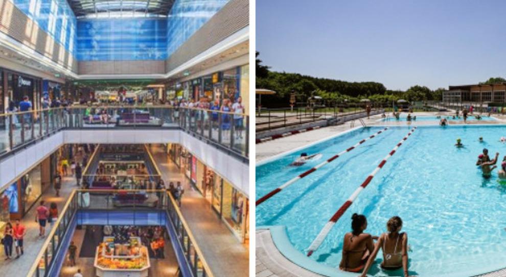 Centri commerciali e piscine, dal 15 maggio le riaperture: su tavolo anche il cambio del coprifuoco