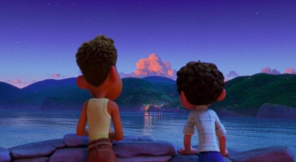 "Una scena di ""Luca"" della Pixar"