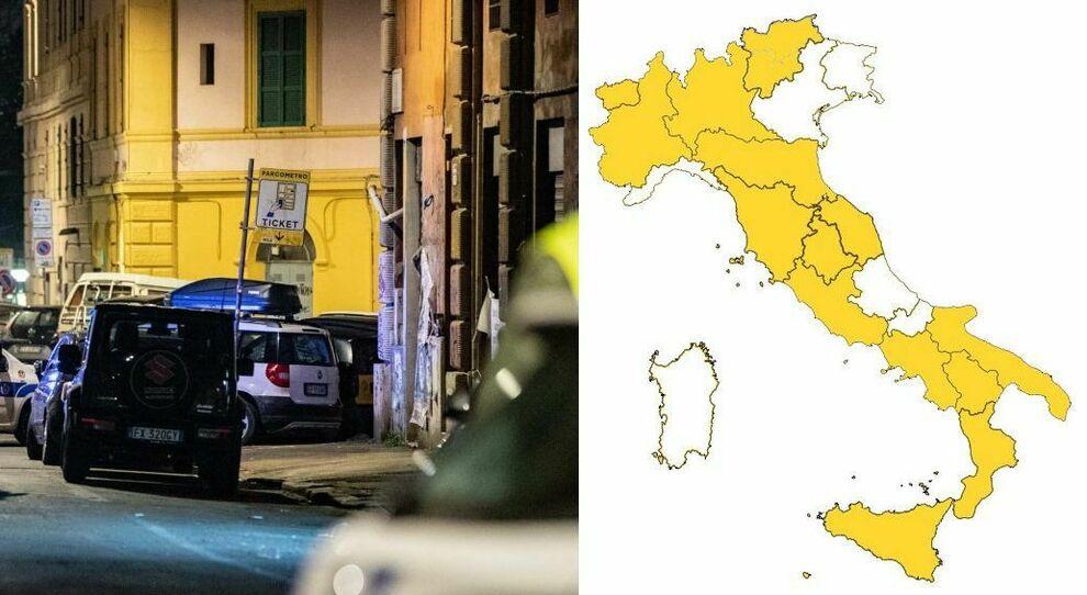 Zona bianca Sardegna, Friuli e Molise dal 1° giugno; Liguria, Veneto e Abruzzo a partire dal 7
