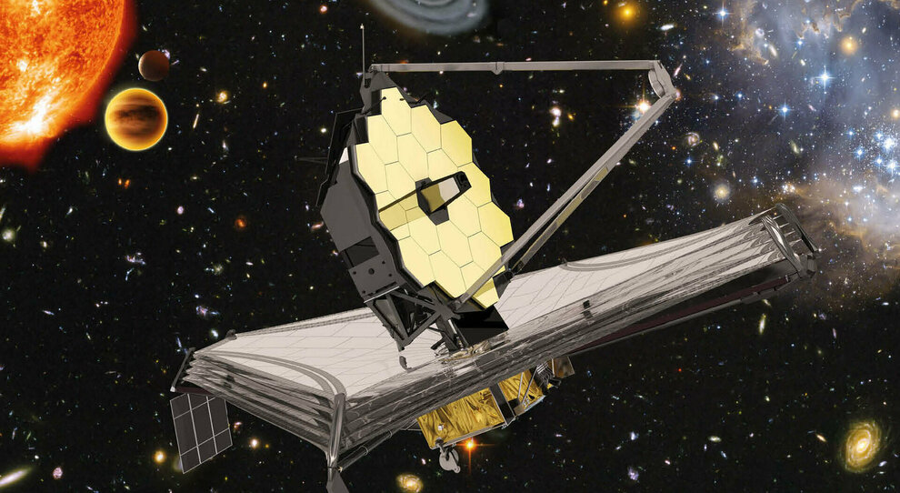 Un rendering del James Webb Telescope della Nasa