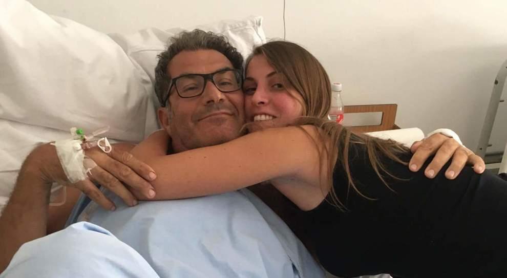 Il dott. Tito Sala durante il primo ricovero nell'agosto del 2017
