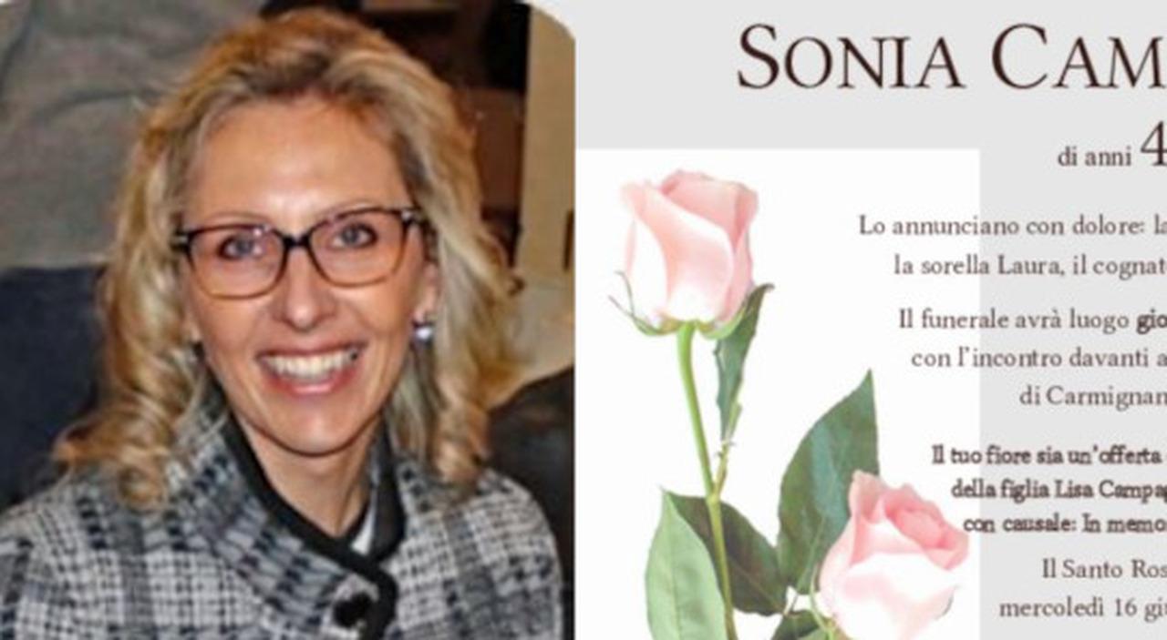 Sonia Campagnolo morta a 47 anni