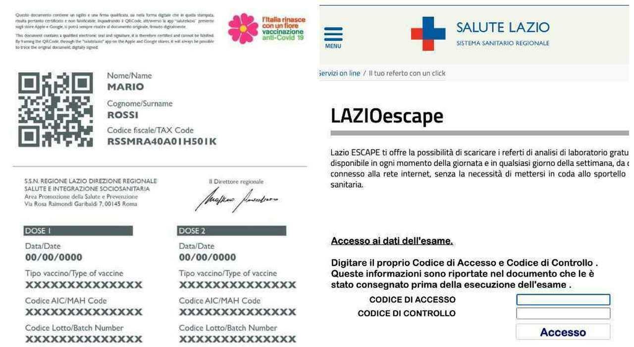 Lazio, come ottenere il certificato vaccinale senza Spid: «Il tuo referto in un click»