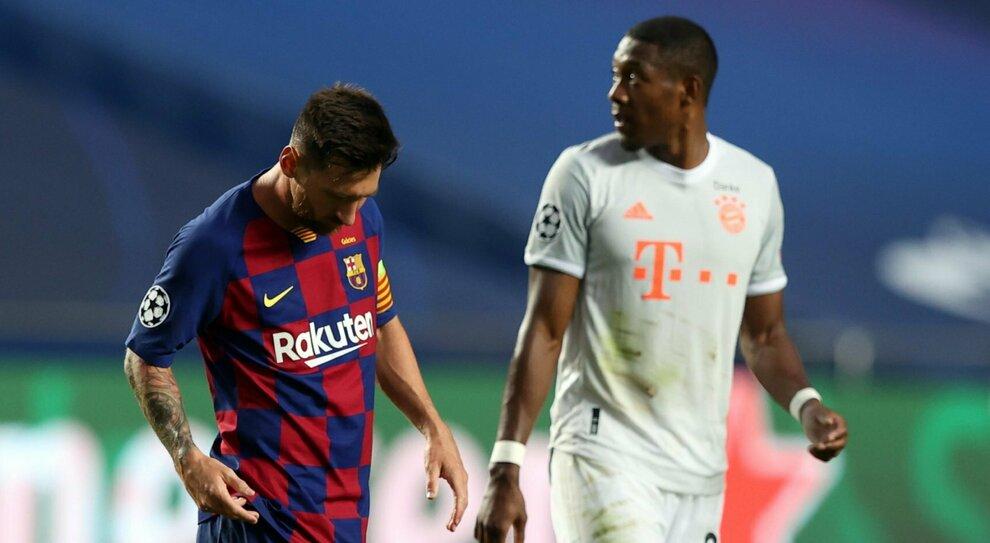 Barcellona sconfitto dal Bayern 8-2: Messi umiliato