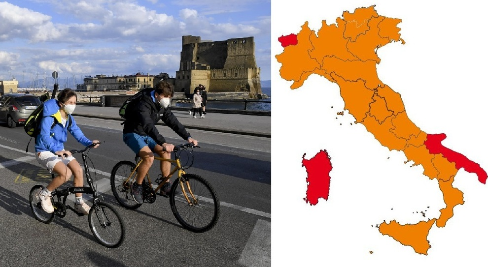 Zona gialla Lombardia, Lazio, Veneto e altre 10 regioni da lunedì. Zona arancione Campania, rossa Sardegna