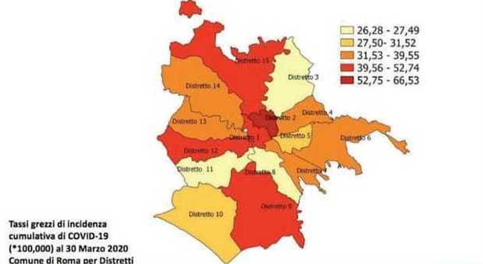 Cartina Roma Nord.Coronavirus Roma La Mappa Piu Contagiati A S Lorenzo E Flaminio Meno A Garbatella E Portuense Record Di Positivi A Civitavecchia