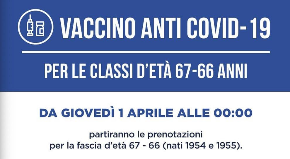 Vaccini, dal primo aprile tocca a chi ha 66 e 67 anni: come e da che ora ci può prenotare