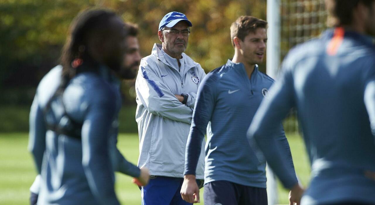 Maurizio Sarri ai tempi del Chelsea