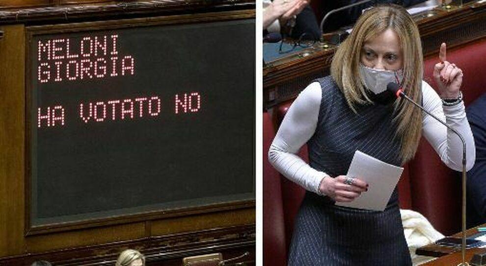 Giorgia Meloni in aula attacca: «Se non ci fossimo noi Italia come la Nordcorea»
