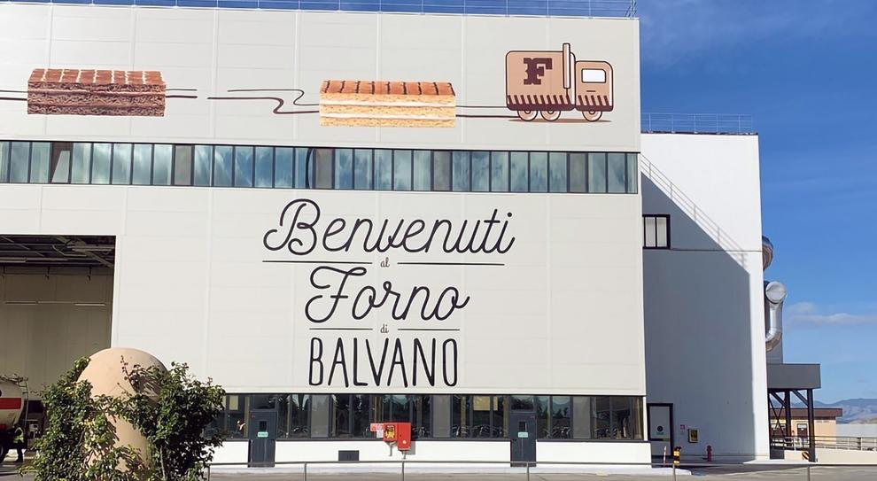 Lo stabilimento Ferrero di Balvano