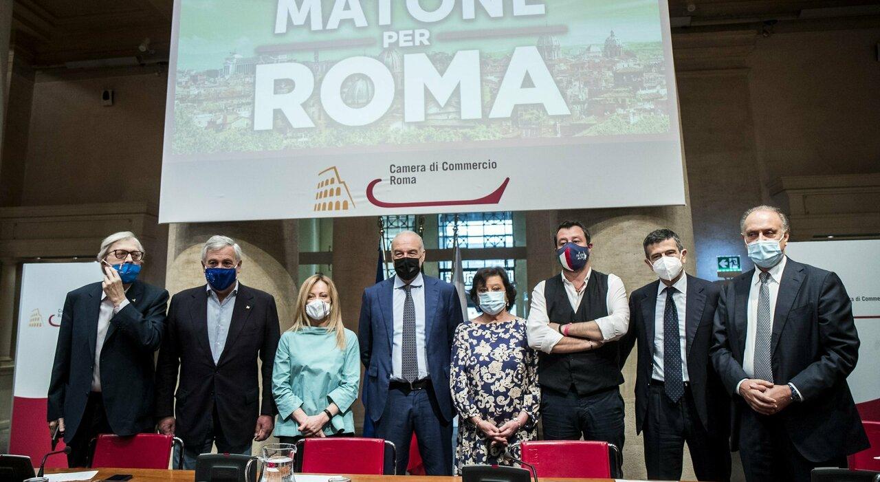 «Ridiamo l onore a Roma»: i tre leader con Michetti. E lui: io tribuno del popolo