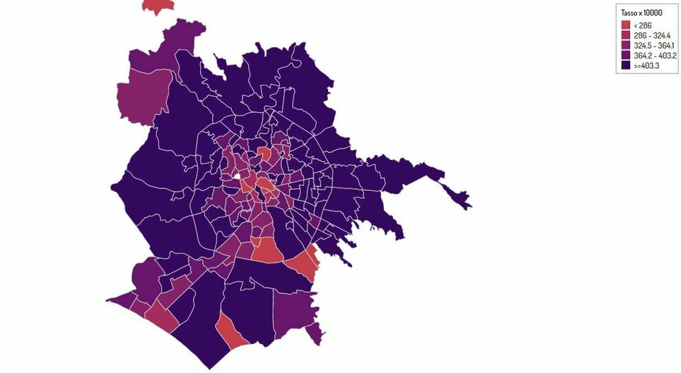 Roma, mappa contagi quartieri: dal Nomentano al Tuscolano, tutte le zone a più alta densità che rischiano