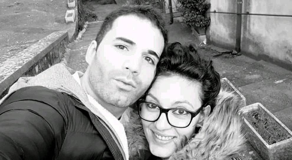 Andrea Landolfi con la vittima, Maria Sestina Arcuri