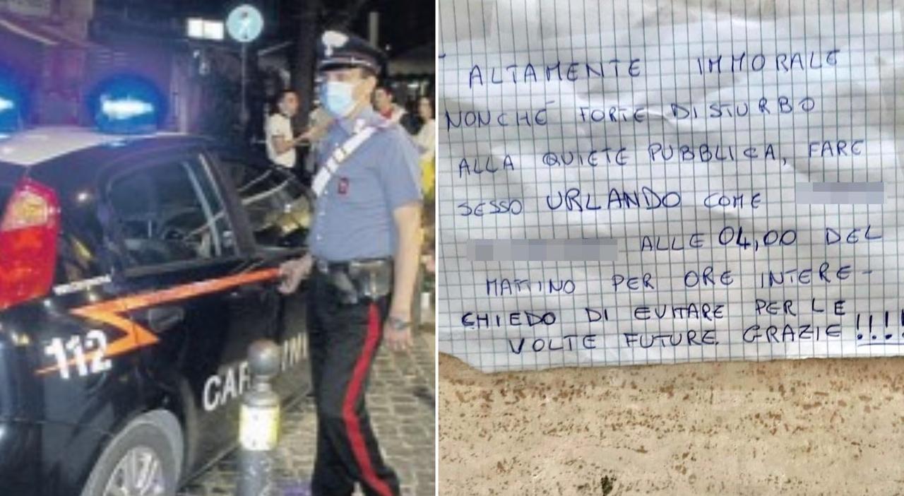 «Non potete fare sesso tutta la notte urlando»: a Frascati biglietto di proteste sulle mura di un palazzo