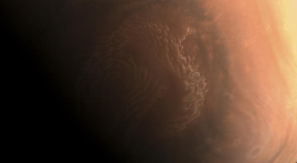 La foto del Polo Nord di Marte scattata dalla Tianwen-1