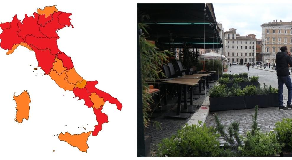 Lazio zona arancione, Toscana e Valle d'Aosta in rossa: i nuovi colori delle Regioni