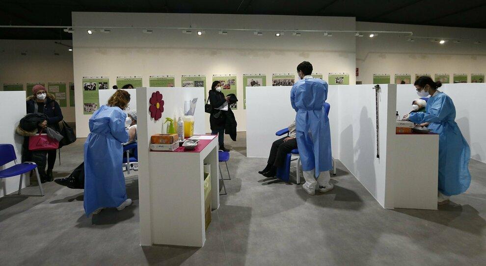 Il nuovo hub vaccinale allestito presso l'Auditorium parco della Musica