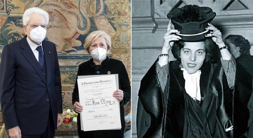 Rosa Oliva, la prima Prefetta in Italia premiata da Mattarella: «Quote rosa necessarie»