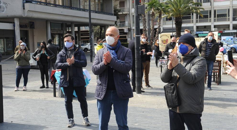La protesta a Pescara (FotoMax)