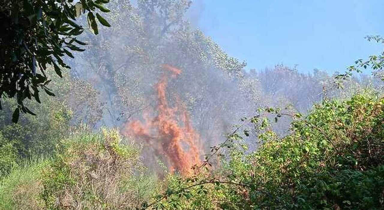 Incendio in Sabina