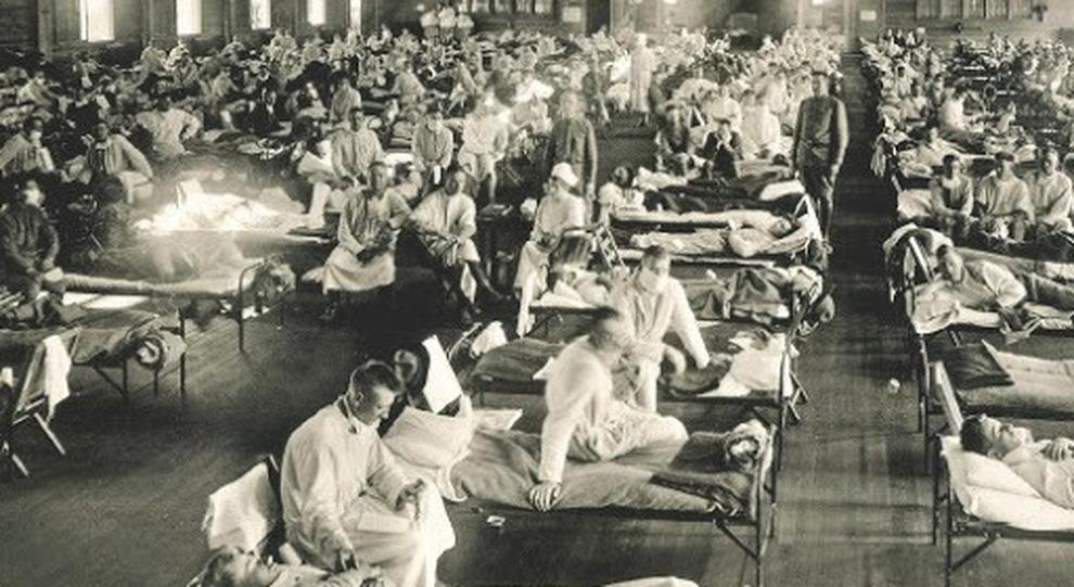 I contagiati dall'influenza spagnola di inizio 1900 negli Stati Uniti