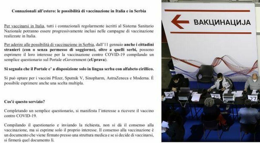 Serbia, vaccino agli italiani: si compila un modulo e si sceglie tra Pfizer, Moderna, Astrazeneca, Sinovac o Sputnik