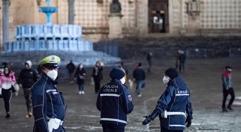 I controlli della polizia locale a Perugia