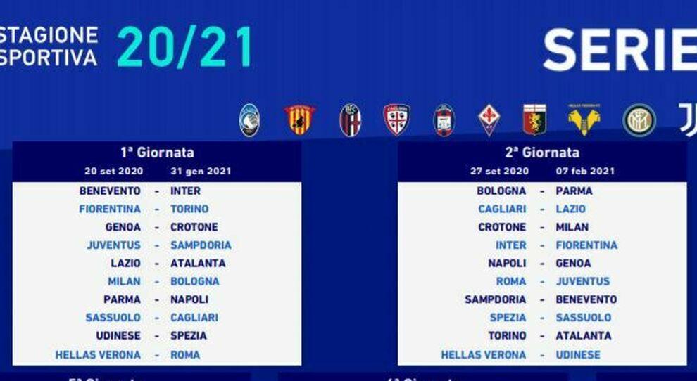 Calendario serie A, diretta: il derby Lazio Roma il 17 gennaio