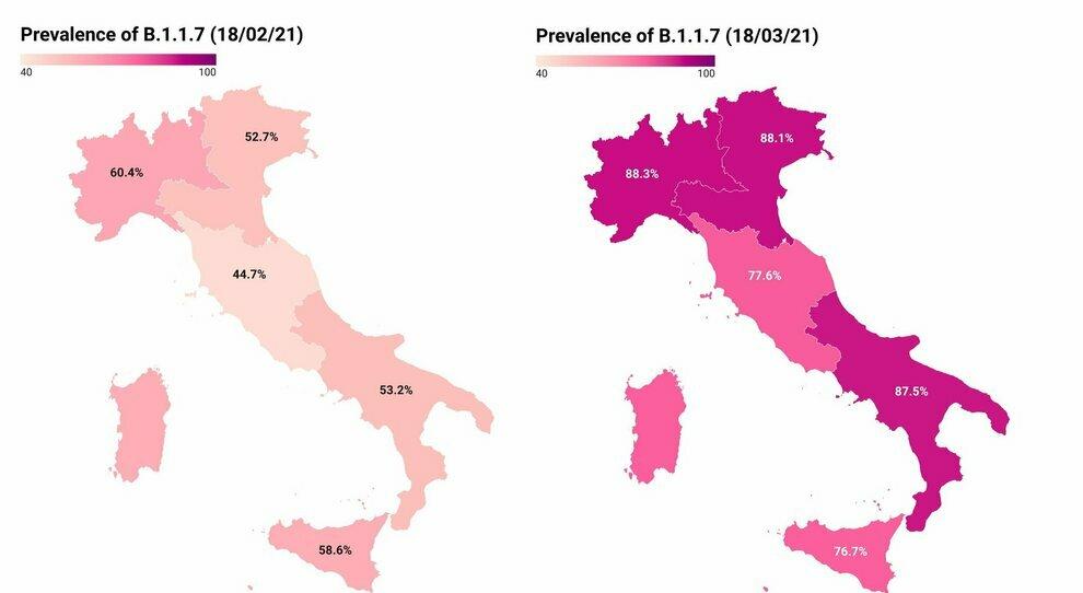 Covid, la variante inglese cresce in Italia: nell'ultimo mese è arrivata all'86.7% di diffusione. Il report dell'ISS