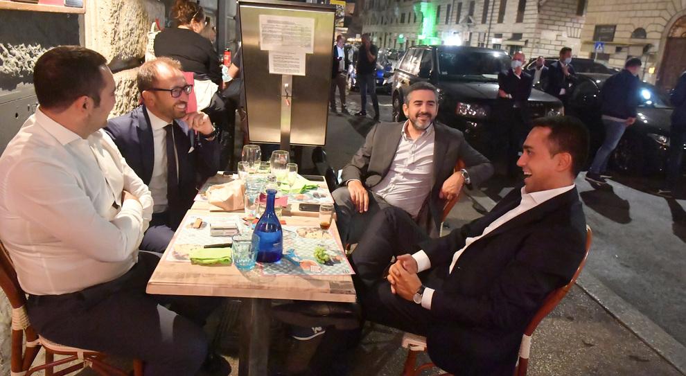 Di Maio, Spadafora, Fraccaro e Bonafede a cena a Roma in via Cavour