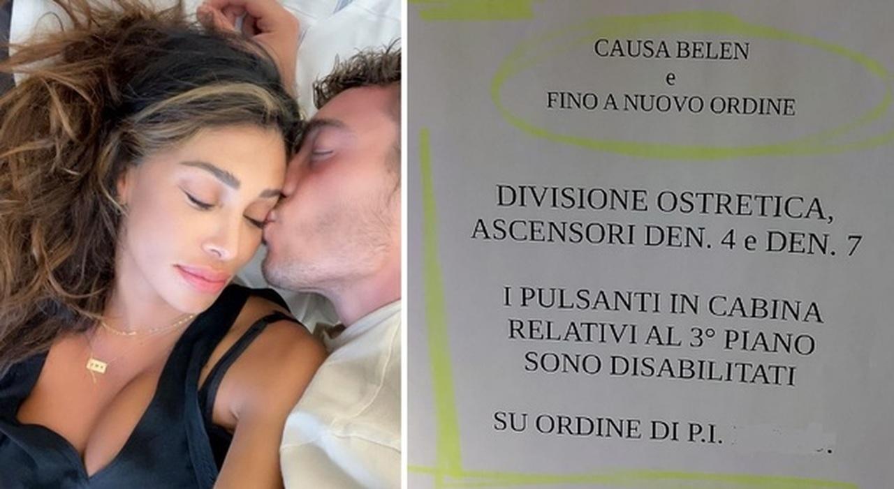 Belen e il parto a Padova, il giallo del cartello appeso e del terzo piano della clinica blindato