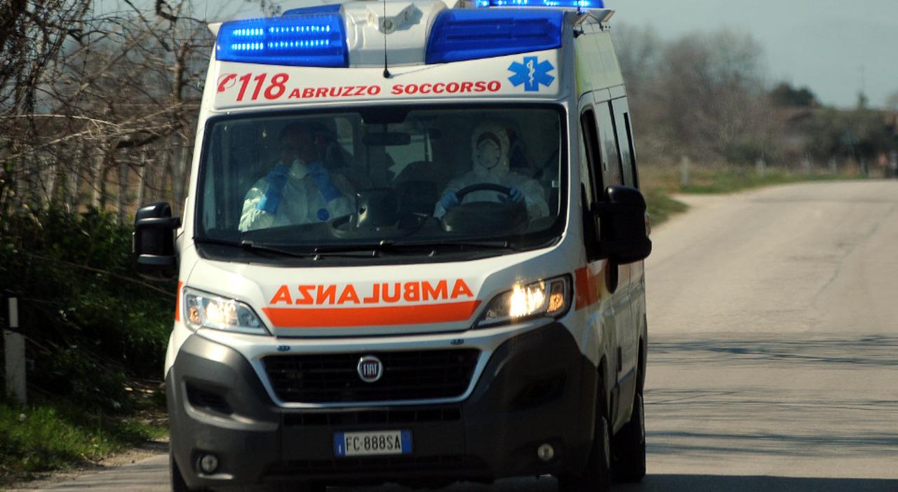 Un soccorso in ambulanza