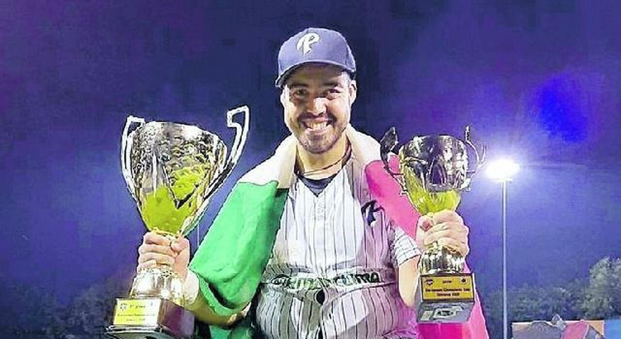 Alex Sambucci premiato a Ostrawa (Foto Parma baseball)
