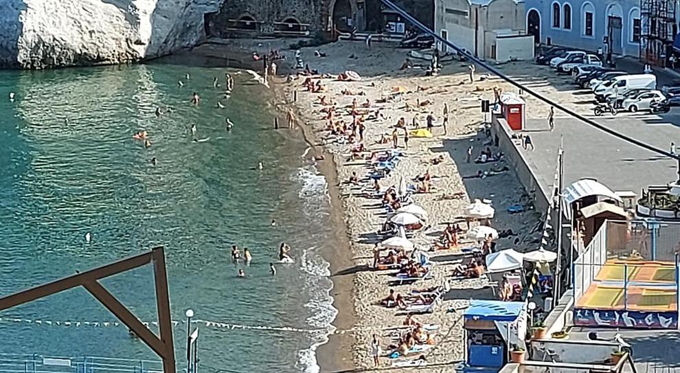 La spiaggia di Giancos l'estate appena trascorsa
