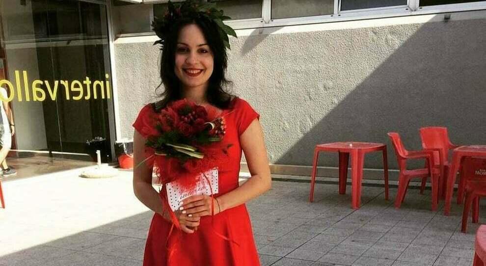 Valeria Sanclimenti, nel giorno della sua laurea