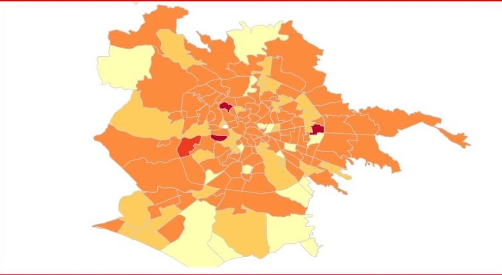 Virus a Roma, mappa contagi nei quartieri: preoccupa Appio Latino, tiene Nomentano