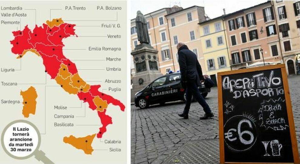 Lazio zona arancione da martedì. Le regole per spostamenti, seconde case, parrucchieri, bar, locali e negozi