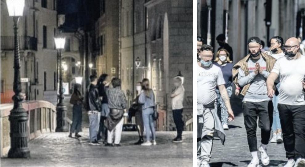 Coprifuoco violato per la movida a Roma. E di giorno molti sono senza mascherina