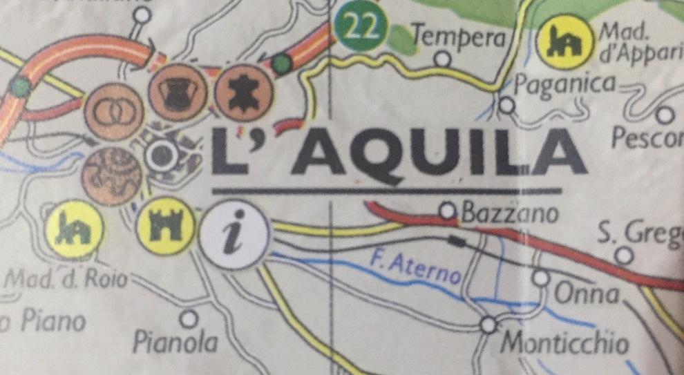 Cartina Della Regione Abruzzo.L Aquila Cartina Della Regione Monumenti Aquilani Dimenticati