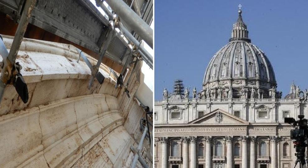 San Pietro e i problemi del restauro del Cupolone: le foto che hanno preoccupato il Papa