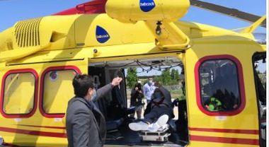 Virus Roma, dopo 50 giorni di ricovero il paziente di Bergamo torna a casa in elicottero