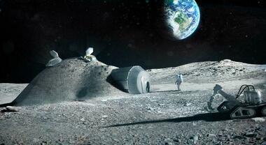 """Luna, una giornata con Christina al Moon Village del programma Artemis: igloo di regolite """"made in Italy"""""""