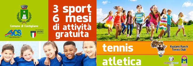 """A Contigliano parte il progetto """"Lo sport siamo noi"""" in collaborazione con Aics Rieti"""