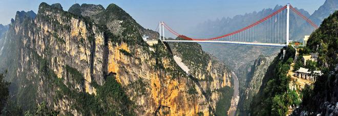 In cina il ponte pi alto del mondo sospeso a 565 metri for Ponte del secondo piano