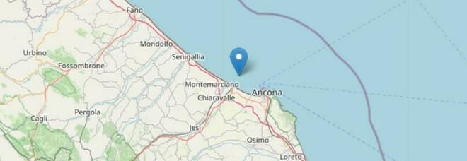 Terremoto nelle Marche all'alba: scossa di magnitudo 3.3 a largo di Falconara