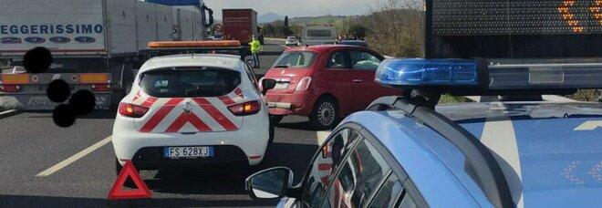 Incidente sulla AutoSole nei pressi del casello di Orvieto, quattro feriti