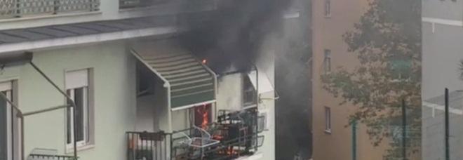 Incendio in un appartamento a Roma