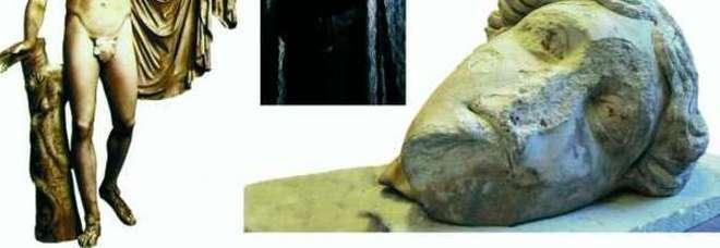 L'Apollo del Foro romano, sotto la via Sacra rinvenuta una testa del Dio del 1° secolo d.C.