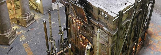 I lavori di restauro all'Edicola del Sepolcro sono stati filmati dal National Geographic